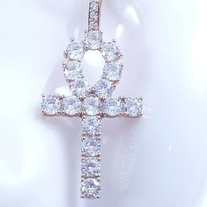 """Rose Gold Ankh + 18"""" Rope Chain"""